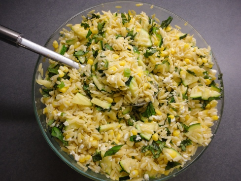 salad orzo and snap pea salad spinach and orzo salad corn and zucchini ...
